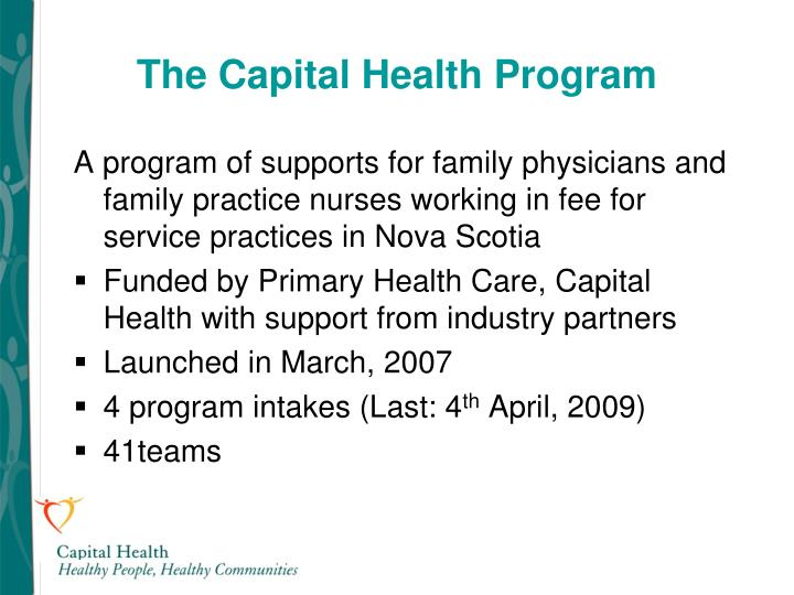 The capital health program