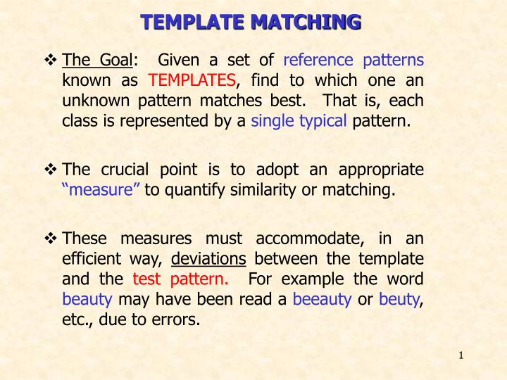 template matching n.