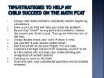 tips strategies to help my child succeed on the math fcat