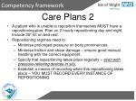 care plans 2