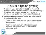 hints and tips on grading
