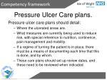 pressure ulcer care plans