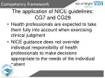 the application of nice guidelines cg7 and cg29