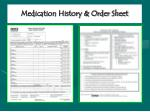 medication history order sheet