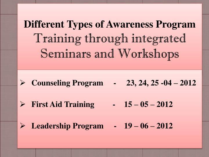 Different Types of Awareness Program