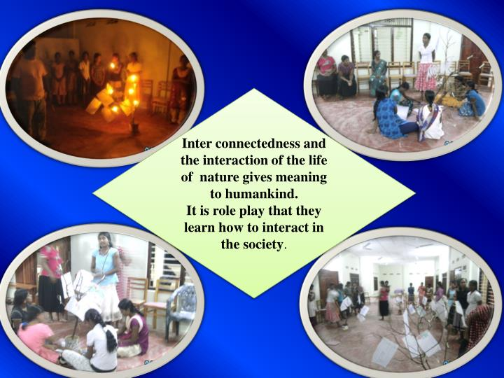 Inter connectedness and the interaction of the life of  nature gives meaning to humankind.