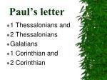 paul s letter