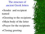 the structure of ancient greek letters