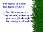 two school of about the death of christ