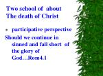 two school of about the death of christ1