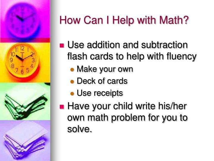How Can I Help with Math?