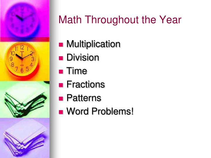 Math Throughout the Year