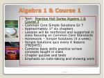 algebra 1 course 1