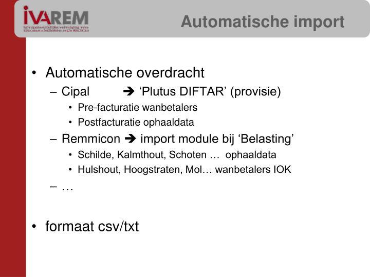 Automatische import