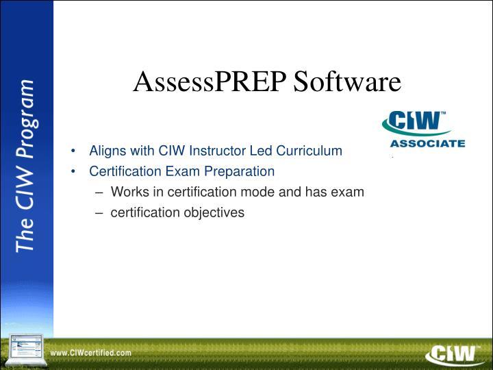 AssessPREP Software