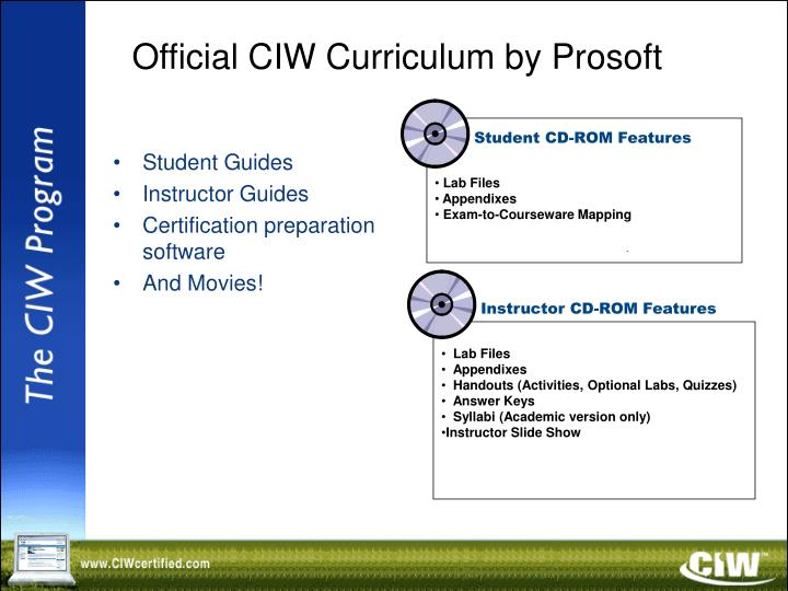 Official CIW Curriculum by Prosoft