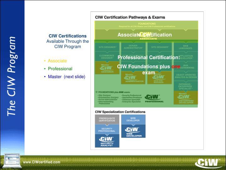 Associate Certification