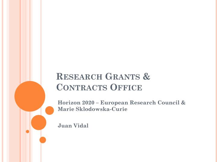 research grants contracts office n.