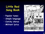 little red song book