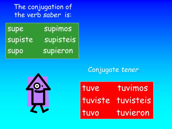 The conjugation of the verb