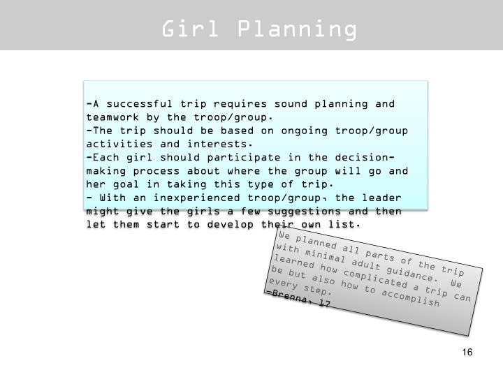 Girl Planning
