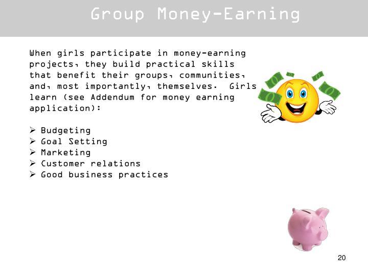 Group Money-Earning