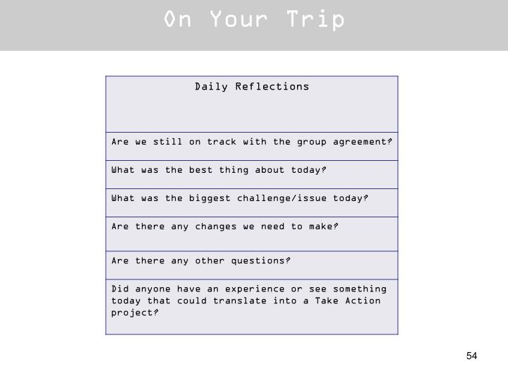 On Your Trip