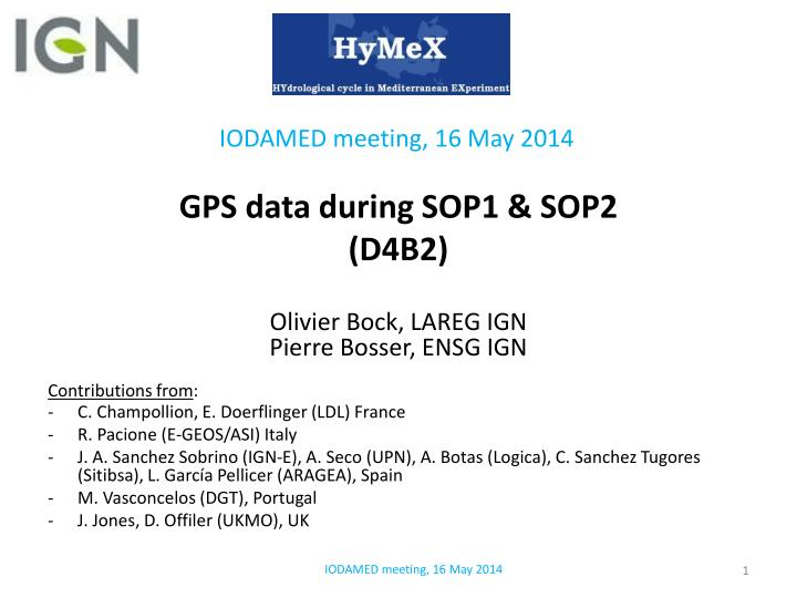 gps data during sop1 sop2 d4b2 n.