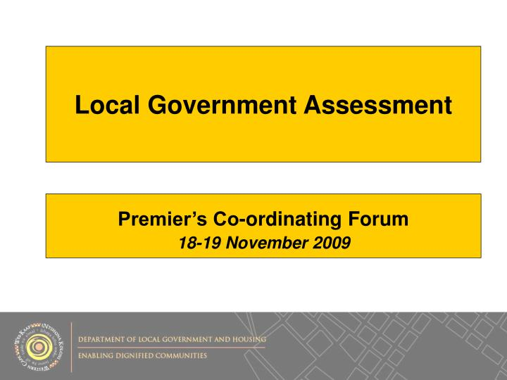 Local Government Assessment
