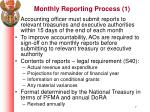monthly reporting process 1