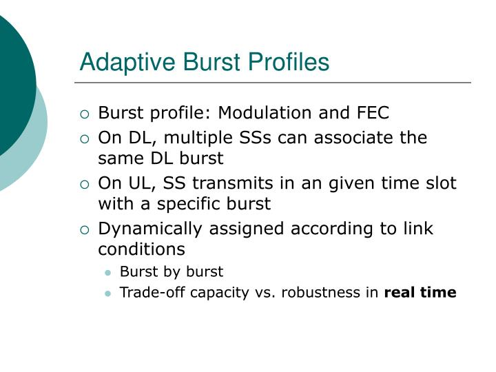 Adaptive Burst Profiles