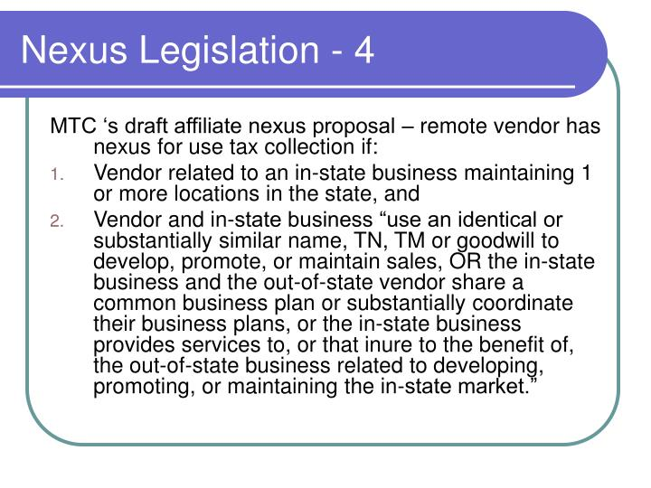 Nexus Legislation - 4