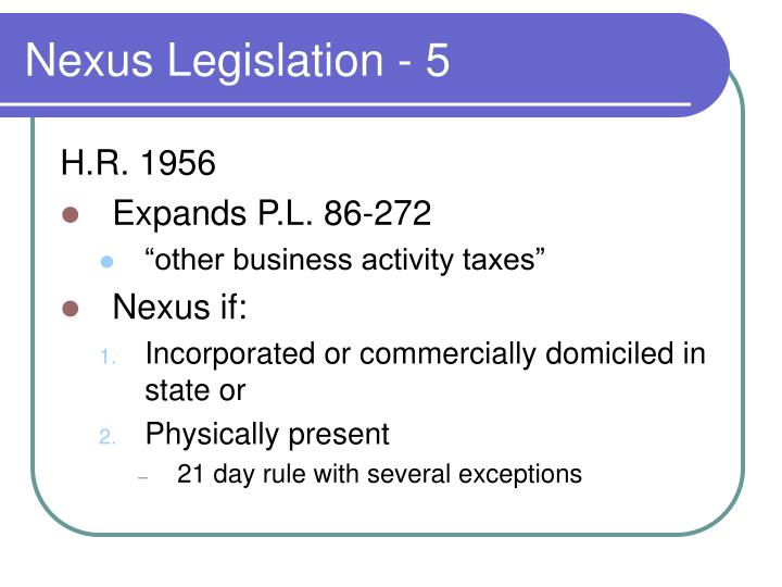 Nexus Legislation - 5
