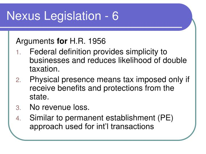 Nexus Legislation - 6
