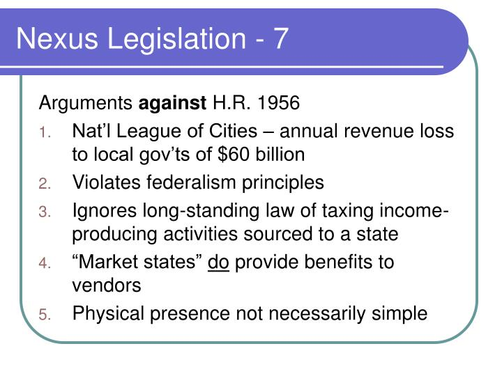 Nexus Legislation - 7