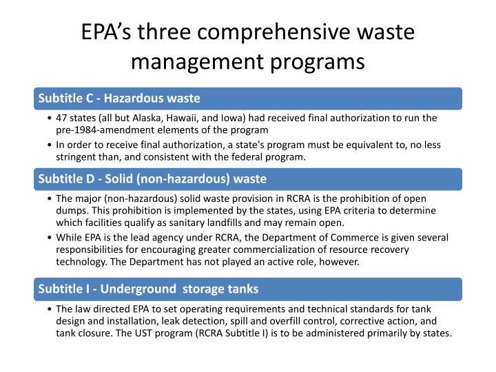 EPA's