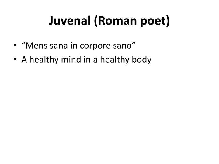 Juvenal roman poet