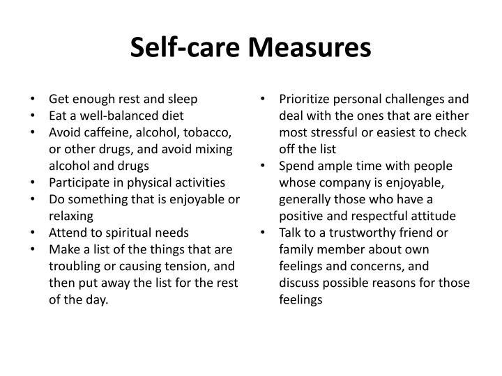 Self-care Measures