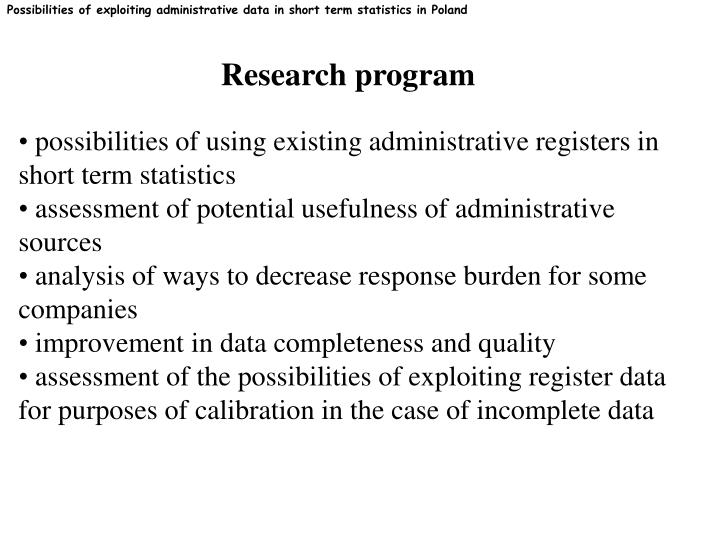 Possibilities of exploiting administrative data in short term statistics in Poland