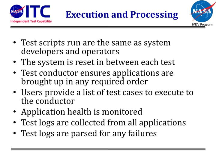 Execution and Processing
