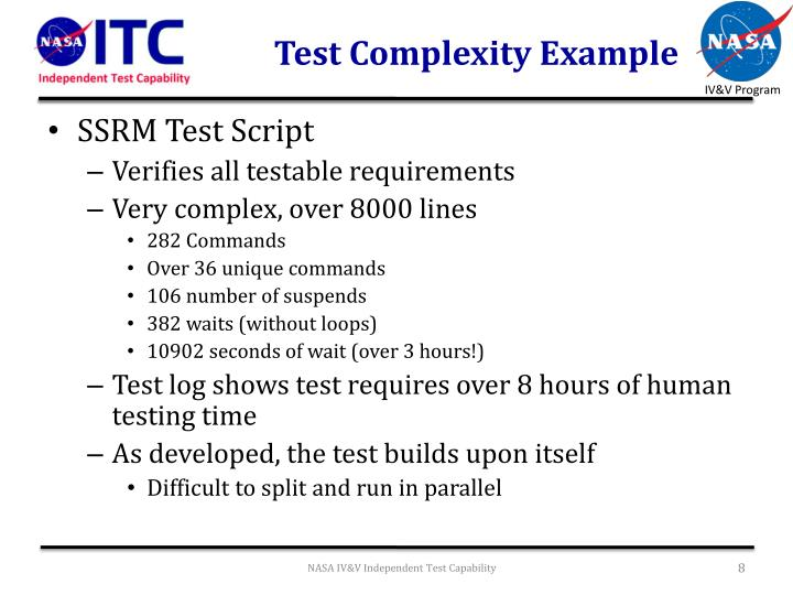 Test Complexity Example