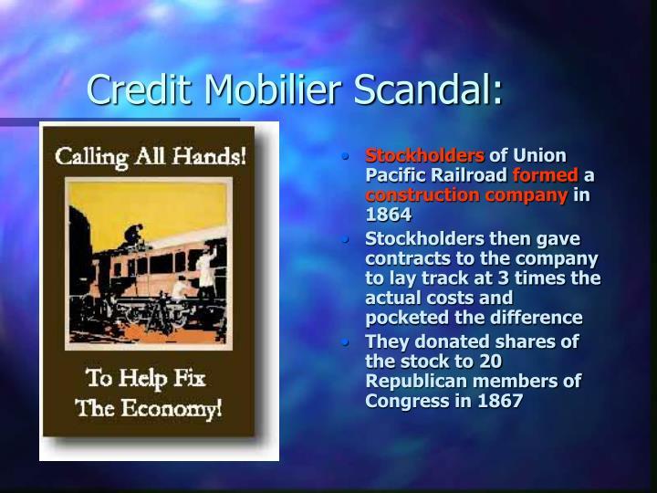 Credit Mobilier Scandal: