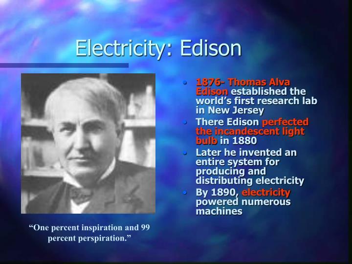 Electricity: Edison