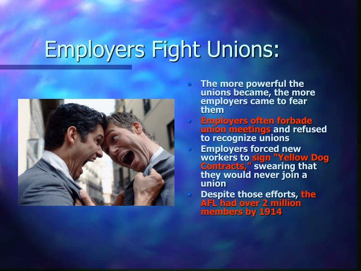 Employers Fight Unions:
