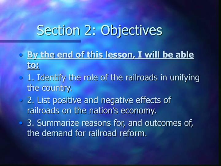 Section 2: Objectives
