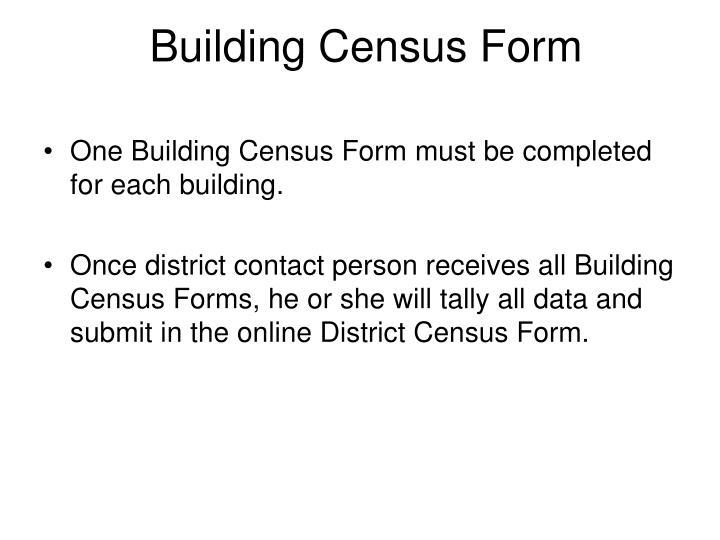 Building Census Form