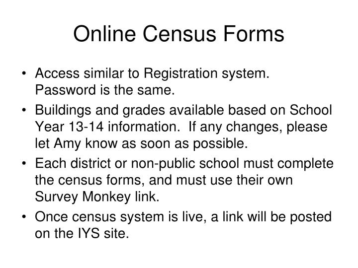 Online Census Forms