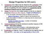 design properties for oo cont