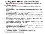 e weyuker s 9 metric evaluation criteria