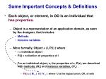 some important concepts definitions